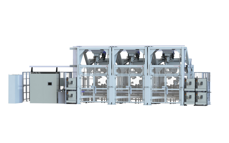 Collating case packing system render