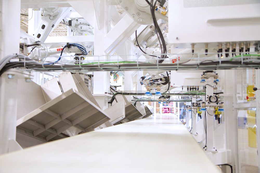 Collating case packing system cell