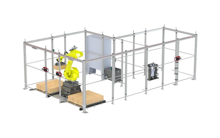 Palletizing robotic system cell render