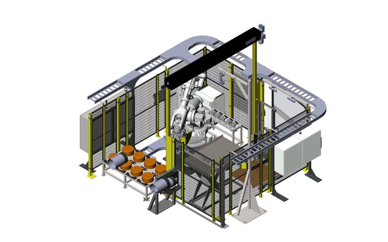 Thread & pipe robotic system render