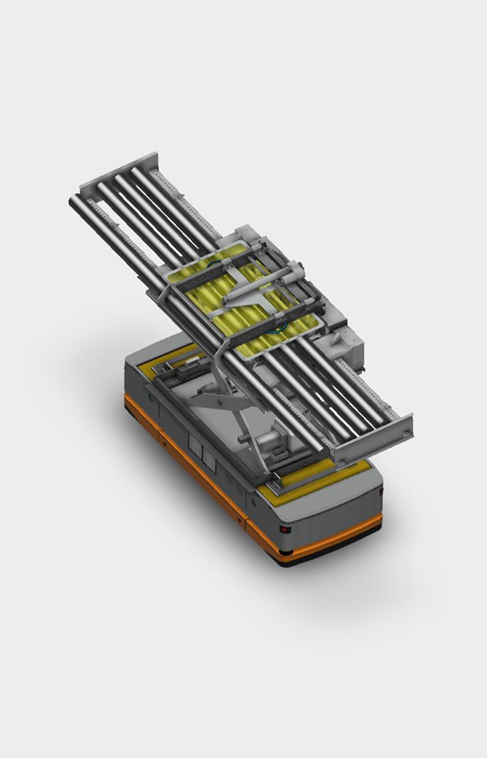 Modular roller conveyance cart render