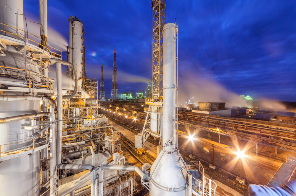 Chemical plant for production of ammonia and nitrogen fertilization on night time