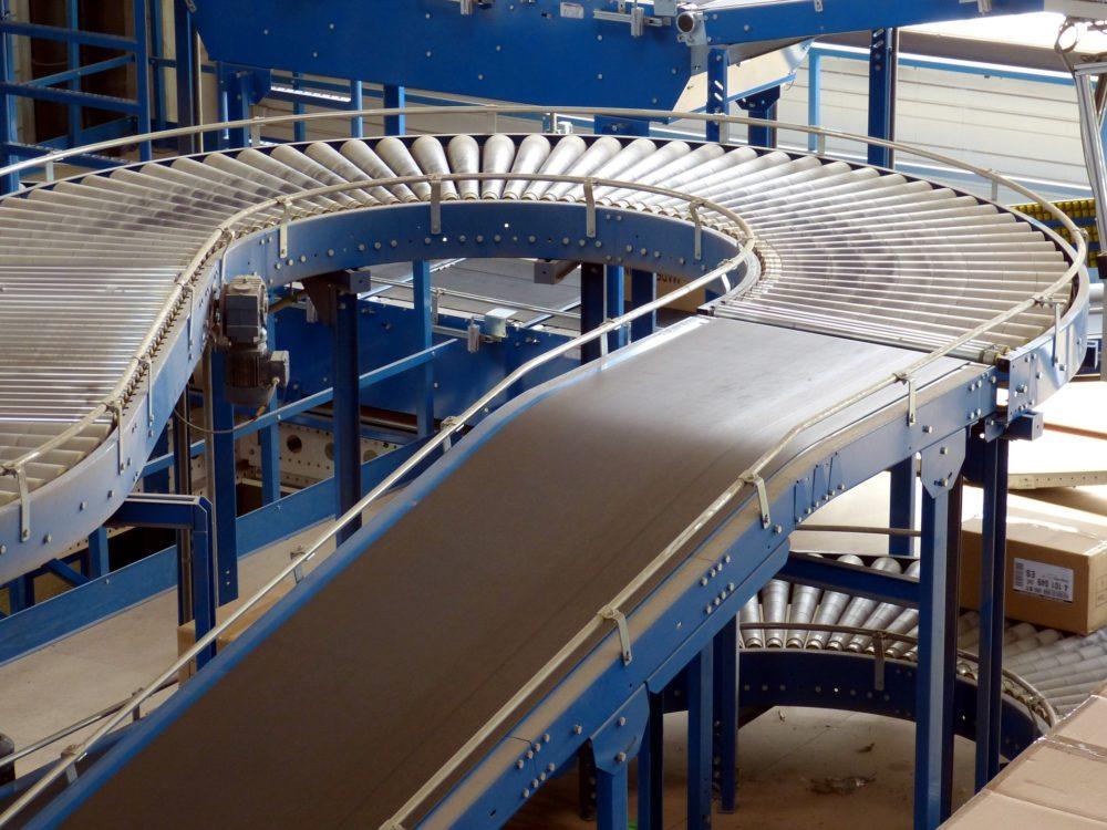 Factory c shaped conveyor