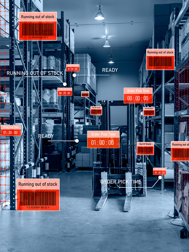 Smart warehouse management system using augmented reality technology to identify package picking and deliver