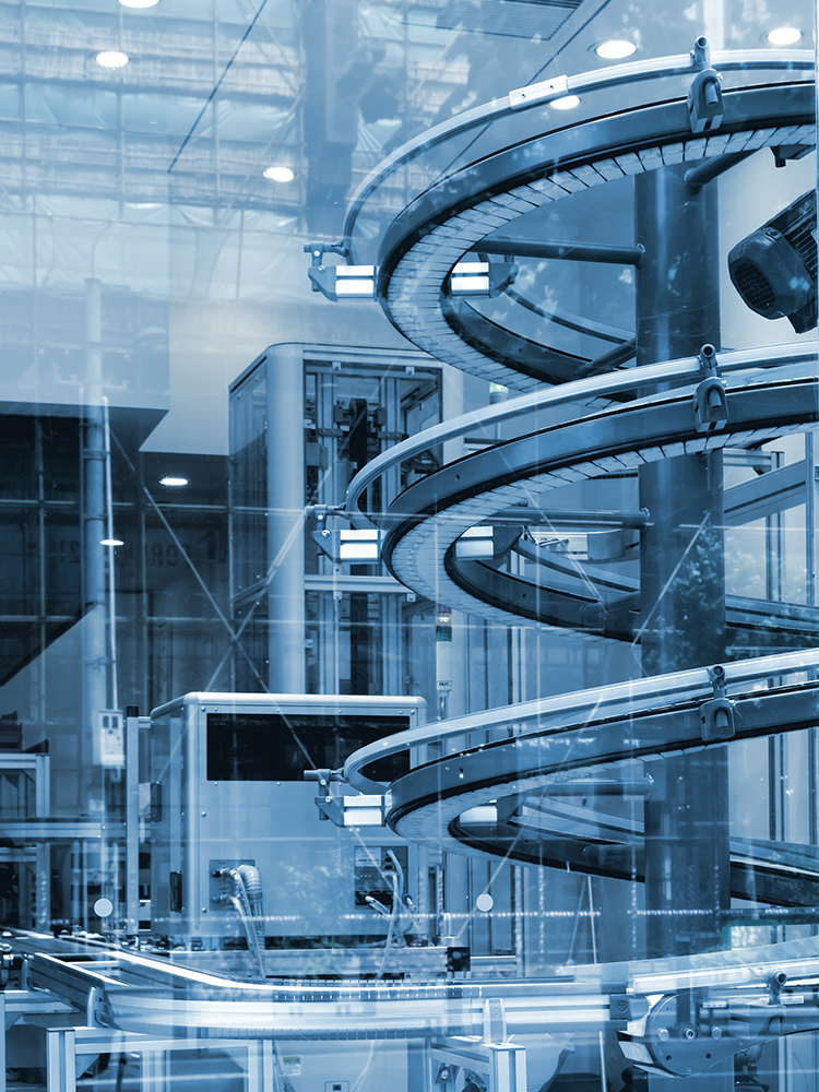Winding automated conveyor system